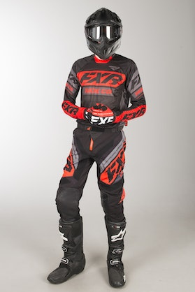 FXR Revo Offorad MX Clothes Black-Red-Charcoal