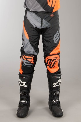 Shot MX Pants Black-Neon Orange