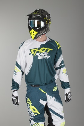 Shot Contact Claw MX Jersey Blue & Neon Yellow