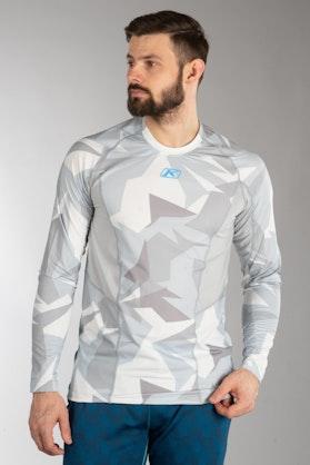 Bluza Termiczna z Długim Rękawem Klim Aggressor Cool - 1.0 Jasnoszary Moro