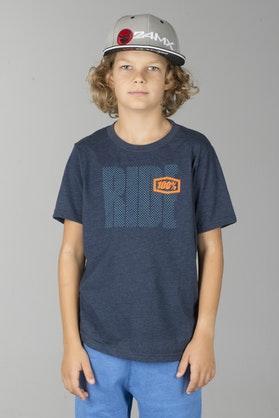 T-Shirt 100% Ride Dziecięcy Navy