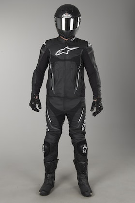 Alpinestars Motegi V2 2-Piece Leathers Black-White