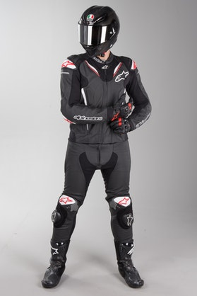 Alpinestars Atem V3 Leather Suit Black and White