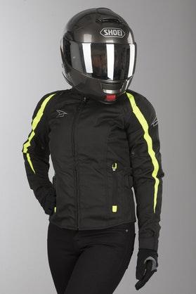 AXO Brave Women's Jacket Black-Yellow