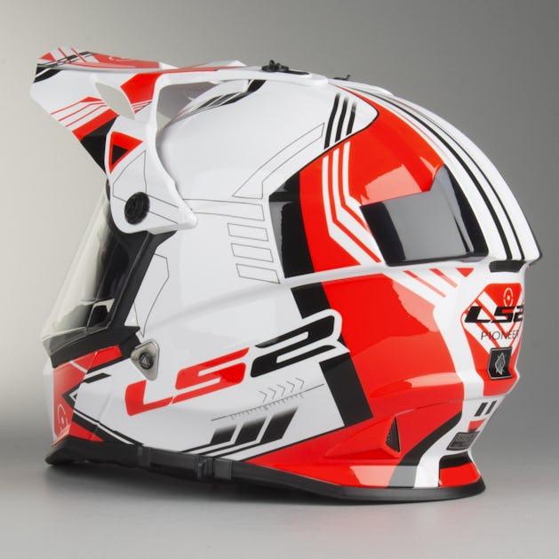 online for sale detailing a few days away LS2 MX436 Trigger Motocross Helmet White-Black-Red - Buy now, get ...