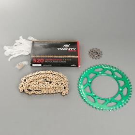 MX Twenty Racing 520 MXP Chain and Sprocket Kit Green