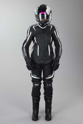 IXS Chara Rouven Ladies' Motorcycle Apparel Black-White