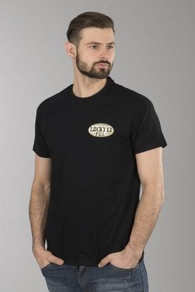 T-Shirt Lucky 13 American Original Czarny