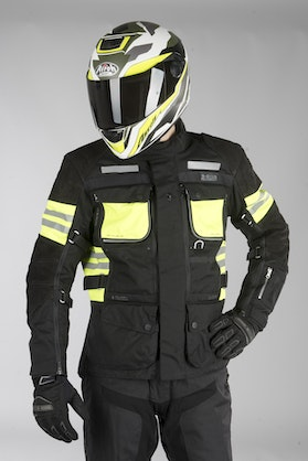 IXS Tour LT Montevideo-ST Jacket Black-Fluo Yellow