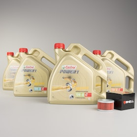 Castrol Power1 Semi-Synthetic Oil and Oil Filter