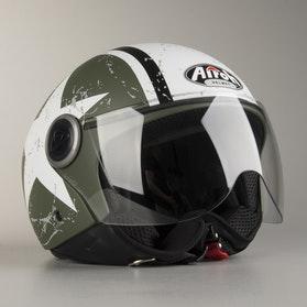 Hjelm Airoh Compact Pro Shield, Matgrøn