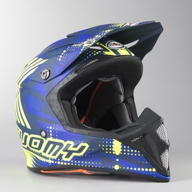 Kask Cross Suomy Mx Speed Sergeant Niebiesko-Neonowożółty Mat