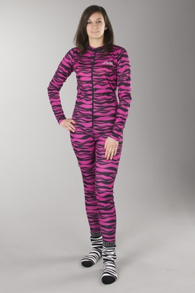 Jethwear Full Suit Women's Base Layer Pink Tiger