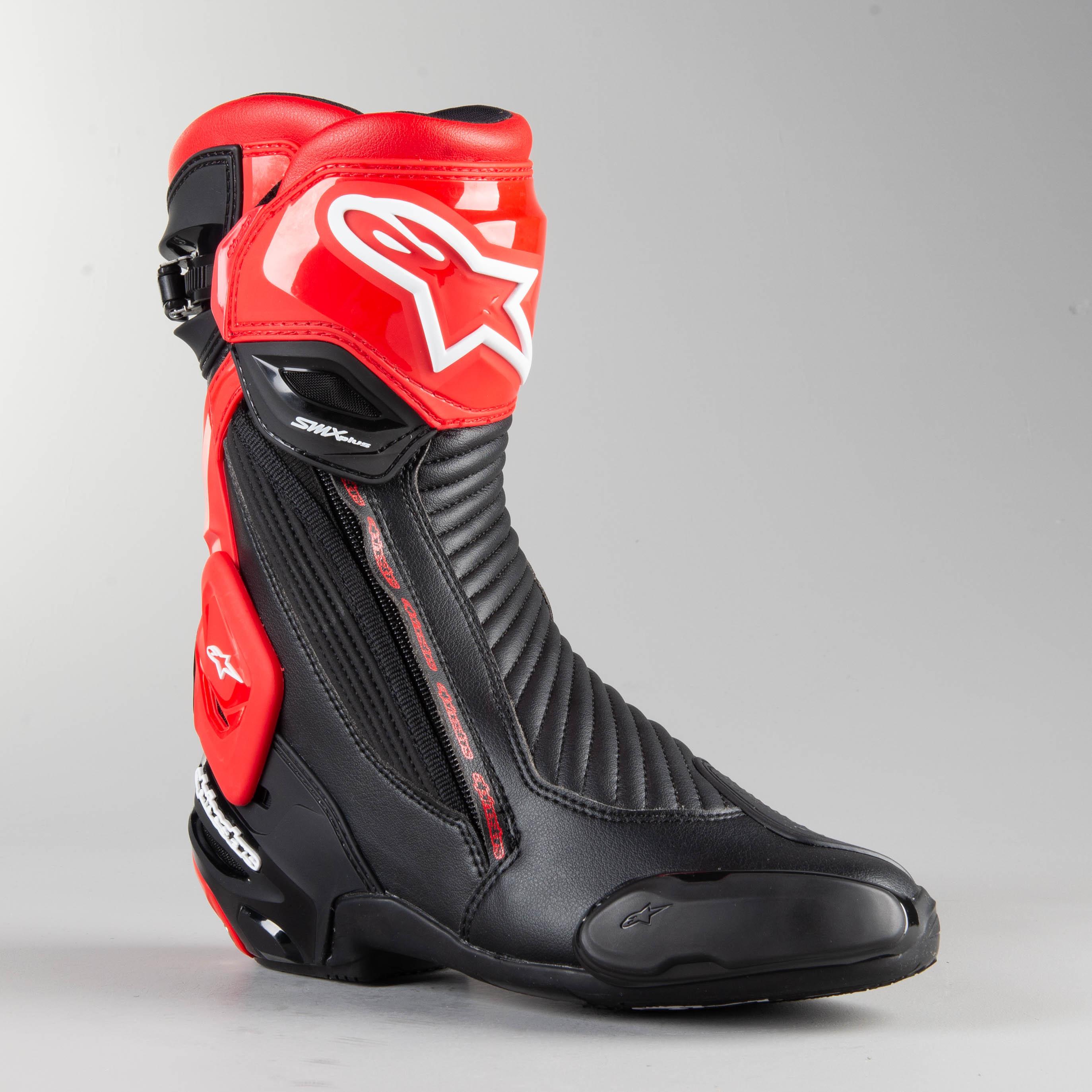 Bottes Moto Alpinestars SMX Plus V2 Noir Rouge