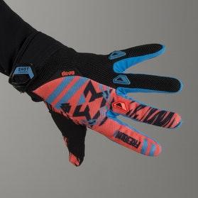 Freegun Trooper Youth MX Gloves Cyan & Orange