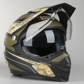 Kask hybrydowy IXS HX 207 Camouflage Matowy Zielono-Czarny
