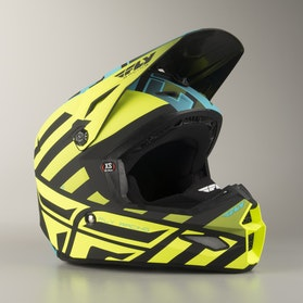 Kask Cross FLY Elite Cold Weather HiVis-Czarny